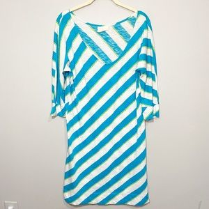 Lilly Pulitzer | Blue and green Cover up Dress
